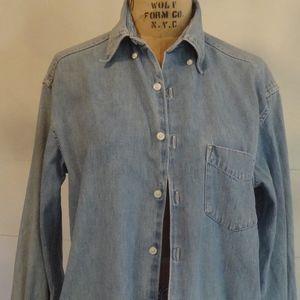 Vintage Banana Republic Button-down Jean Shirt
